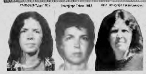 Elizabeth Duke per 1988 F.B.I. Most Wanted Poster
