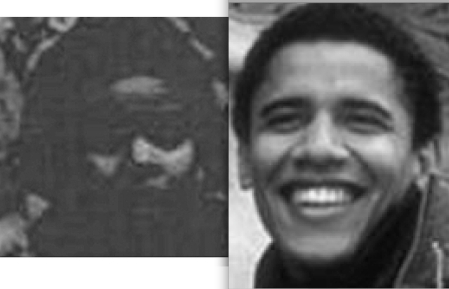 a.k.a. Obama approximately 15 years apart - Boston 1975 + Cambridge circa 1990.