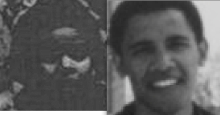 Another Harvard Law School image of a.k.a. Obama, compared to his image in 1975 as Cover Boy for debut issue of Weather Underground magazine Osawatomie.