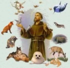 Sebastian Temple - The Blessing of St. Francis-poster